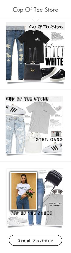 """""""Cup Of Tee Store"""" by amra-mak ❤ liked on Polyvore featuring Hollister Co., Puma, WithChic, cupofteestore, OneTeaspoon, adidas, Mansur Gavriel, Skinnydip, Leica and The Row"""