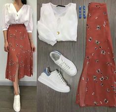 Cute and beautiful fashion style for women of all time 20 Mode Outfits, Chic Outfits, Spring Outfits, Trendy Outfits, Modest Fashion, Skirt Fashion, Fashion Dresses, Mode Ulzzang, Mode Ootd
