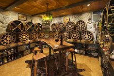 rustic wine cellar cabinets - Google Search