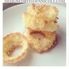 Coconut Crusted Oven-Baked Onion Rings