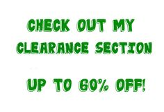 CLEARANCE SECTION Sale Price Reductions Sell by MargsMostlyVintage Price Reduction, Things To Sell