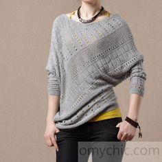 Gray Oversize sweaters shirt