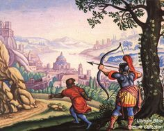 1 Samuel 19 Bible Pictures: Jonathan Warns David of His Father's Plot