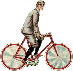 Vintage Bicycle Boy Image - The Graphics Fairy
