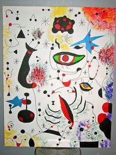 Toile, inspiration : Juan Miro.