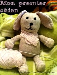 Knitted Animals, Knitted Dolls, Yorkshire Terrier, Free Pattern, Teddy Bear, Crafts, Knitting Toys, Recherche Google, Gabriel