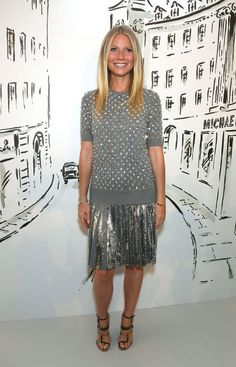 The 10 best celebrity outfits from the week to inspire your next outfit for a night out: Gwyneth Paltrow wears a silver pleated skirt and matching top