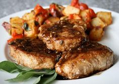 Kaili's Cooking: Pork Chops with Balsamic Reduction