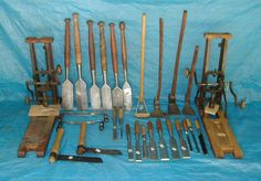Traditional Timber Framing Tools *PIC*  I need to start collecting these