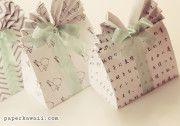 Origami Gift Bag Tutorial & Free Printable Patterns