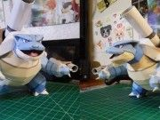 Pokemon - Mega Blastoise Free Papercraft Download