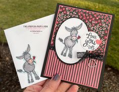 Stamping Up Cards, Animal Cards, Heart Cards, Valentine Day Cards, Valentines, Copics, Kids Cards, Greeting Cards Handmade, Scrapbook Cards