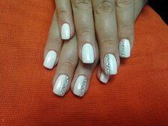 #white #glitter #strass