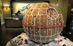 You don't need to send a team of rogue warriors to steal the plans for this amazing edible Death Star, made with curved gingerbread pieces, in order to destroy it. All you need is a house full of college students home for the holidays who've been living off instant ramen for months.