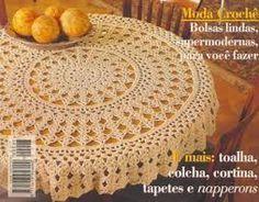 Resultado de imagem para graficos de croche toalhas redondas