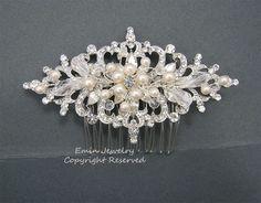 Wedding Hair Accessories Vintage Bridal Hair Combs by eminjewelry