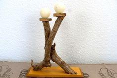 Kerzenständer Teelichthalter aus Holz Natur pur von SchlueterKunstundDesign - Wohnzubehör, Unikate, Treibholzobjekte, Modeschmuck aus Treibholz auf DaWanda.com