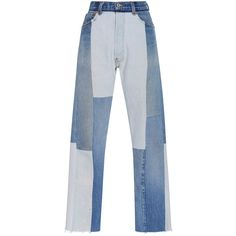 Re/done     Seamed High Rise Jeans ($580) ❤ liked on Polyvore featuring jeans, pants, bottoms, re/done, light wash, straight leg jeans, cropped jeans, high rise straight leg jeans, highwaist jeans and re done jeans