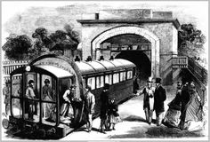 """Arrival of the train"""" London History, Crystal Palace, The World's Greatest, Tour Guide, Journey, Tours, Train, Explore, Crystals"""