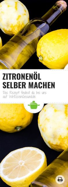 Make lemon oil yourself? With our recipe you can easily make your own lemon oil. Have fun :) + Zitronenöl selber machen? Mit unserem Rezept kannst du dir g Easy Smoothie Recipes, Healthy Smoothies, Healthy Desserts, Drink Recipes, Healthy Eating Tips, Healthy Nutrition, Diy Snacks, Vegetable Drinks, Smoothie Bowl