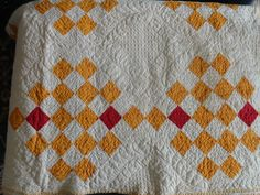 Cheddar  & Red Quilt