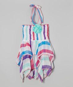 Blue Stripe Handkerchief Dress - Toddler & Girls