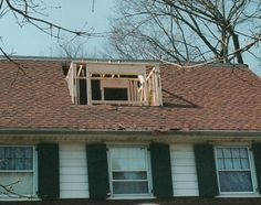 Before And After Shot Of A 30 Foot Shed Dormer Addition We
