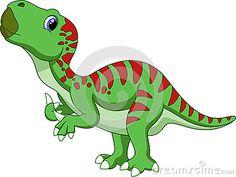 Desenhos animados bonitos do iguanodon