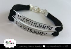 Personalized Couples Bracelet His and Hers by BlumaAffirmations1