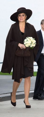"""Posted on November 26, 2013 by HatQueen......Queen Máxima officially opens the new """"Queen Máxima  Barracks for the Royal Military Guard"""" at Schiphol airport in Badhoevedorp, near Amsterdam, this morning."""