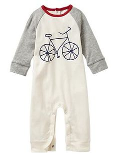 Colorblock bike one-piece - perfect for when he's going to Grammy's house!