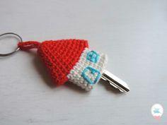 Rose Coton: DIY - porte-clefs petite maison au crochet