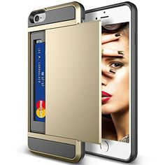 iPhone 6 Plus Case, Apple iPhone 6 Plus Card Slot Case Cover Shockproof Shell,iPhone 6 Plus Dust-proof Case,PC Hard Back Case Protective Soft Bumper Frame Case with Card Holder for iPhone 6 Plus (5.5 Inch)(Gold/Black) YIFENG http://www.amazon.com/dp/B00X3O8J44/ref=cm_sw_r_pi_dp_8IKxvb0VXK0FK