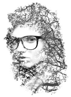 Double Exposure Style  Conclusion - Resize the layers to place the girl in the center of the document. You can also add a photo filter, LayerNew Adjustment LayerPhoto Filter. You can use deep blue or orange to add a really nice style to the final design.