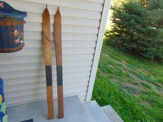 vintage/antique wooden skis   41  long chalet decor     #1125