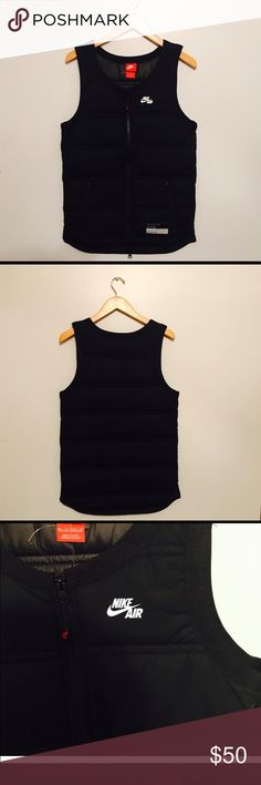 Nike Air Men's Thermore Vest XS Black sleeveless Nike air vest size XS. Extremely stylish and comfortable, would make a great gift! Retail was $130, still has tags on it . Fast same day shipping on all orders Nike Jackets & Coats Vests