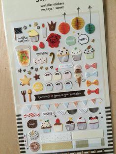 Korea deco stickers  suatelier sticker: sweet by ZakkaLuLuZone