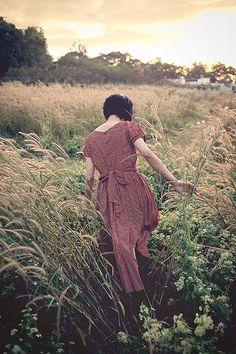 Through the fields...