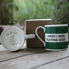I Wish I Was Playing Golf Mug