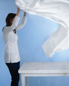 With a little TLC, it's easy to restore antique linens to their former glory.