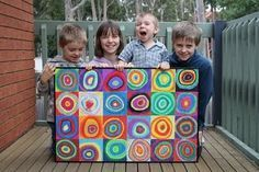 Awesome art project inspired by Wassily Kandinsky.  Very easy way to create an original piece of art.  My kids would love this project.