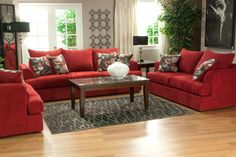 Be bold with this beautiful red couch!