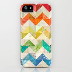 Chevron Rainbow Quilt iPhone Case ... wish they had this for other phones!