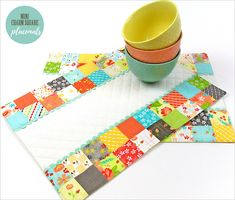 Mini Charm Square Patchwork Placemats - Sew4Home