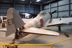 零式艦上戦闘機 - 同じくCAFで修理中だった頃のEII-102の尾部