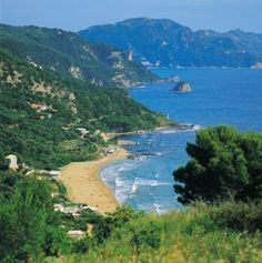 Pelekas beach, Corfu! I came here in 1989 on my first inter Railway ticket! I lived on Kalamata olives, White bread and Heineken beer!