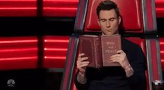 New party member! Tags: season 11 nbc the voice adam levine reading sob story