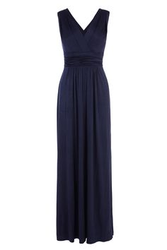 A beautiful slinky dress with statement appeal. The Daphne maxi dress features a plunging V neckline and an alluring cross over back. The waist tie cinches you in beautifully creating a flattering silhouette. Closing with a concealed back zip this dress measures 54 inches/137cm from underarm to hem. Height of model shown: 5ft 9inches/175cm. Model wears: UK size 10.
