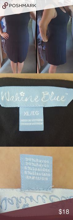 Simple balck dress Very stretchy and breathable simple black dress. Color is a little fade from wear other then that the dress the most comfortable thing you will ever wear. In the size Xl/1x Wahine Blue Dresses Midi