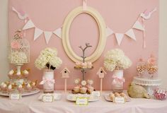 pink and romantic but too girly for a co-ed baby shower?